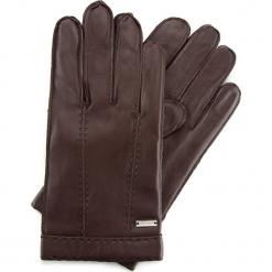 Rękawiczki męskie 39-6-706-B. Brązowe rękawiczki męskie Wittchen, na zimę. Za 195,00 zł.