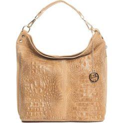 Torebki klasyczne damskie: Skórzana torebka w kolorze jasnobrązowym – 40 x 40 x 14 cm