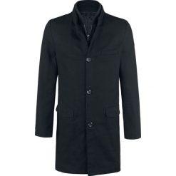 Forplay Coat einreihig Płaszcz czarny. Brązowe płaszcze na zamek męskie marki Cropp, na zimę, l, sportowe. Za 284,90 zł.