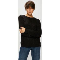 Vero Moda - Sweter Signe. Czarne swetry klasyczne damskie Vero Moda, m, z bawełny, z okrągłym kołnierzem. W wyprzedaży za 99,90 zł.