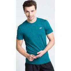 Odzież termoaktywna męska: Koszulka treningowa męska TSMF301 - morska zieleń melanż