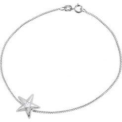 Bransoletki damskie: Srebrna bransoletka z diamentem
