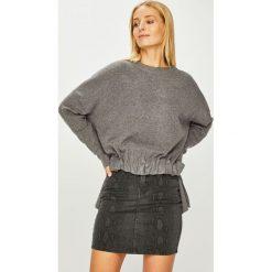 Answear - Sweter. Niebieskie swetry klasyczne damskie marki DOMYOS, z elastanu, street, z okrągłym kołnierzem. Za 129,90 zł.