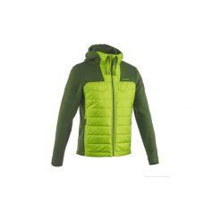 Sweter turystyczny NH500 Hybrid męski. Zielone swetry klasyczne męskie marki QUECHUA, m, z materiału. W wyprzedaży za 59,99 zł.