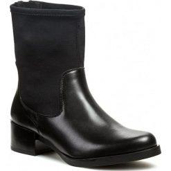 Botki ELYSESS - 30831 Negro. Czarne buty zimowe damskie Élysèss, z materiału, na wysokim obcasie, na obcasie, na zamek. W wyprzedaży za 299,00 zł.