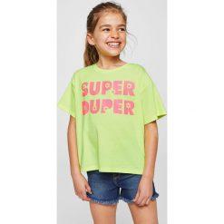 Bluzki dziewczęce: Mango Kids – Top dziecięcy Fluor 104-164 cm