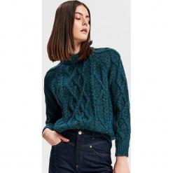 Sweter z domieszką wełny i alpaki - Niebieski. Niebieskie swetry klasyczne damskie Reserved, l, z wełny. Za 299,99 zł.