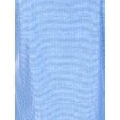 KOSZULA MĘSKA ELEGANCKA Z DŁUGIM RĘKAWEM K389 - BŁĘKITNA. Niebieskie koszule męskie na spinki marki Ombre Clothing, m, z materiału, z kontrastowym kołnierzykiem, z długim rękawem. Za 49,00 zł.