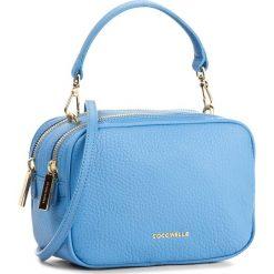 Torebka COCCINELLE - BH0 Surya Bubble E1 BH0 15 01 01 Azur 021. Niebieskie torebki klasyczne damskie Coccinelle, w ażurowe wzory, ze skóry. W wyprzedaży za 769,00 zł.