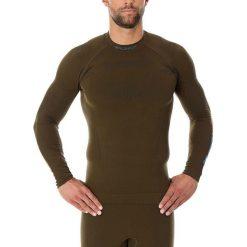Bluzy męskie: Brubeck Bluza męska Thermo z długim rękawem khaki r. M (LS13040)