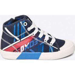 Geox - Trampki dziecięce. Szare buty sportowe chłopięce Geox, z gumy. W wyprzedaży za 159,90 zł.
