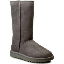 Buty UGG - W Classic Tall II 1016224 W/Gry. Szare buty zimowe damskie marki Ugg, z materiału, z okrągłym noskiem. Za 1259,00 zł.