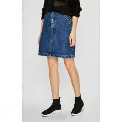 Tommy Jeans - Spódnica. Szare minispódniczki Tommy Jeans, z bawełny, proste. Za 399,90 zł.