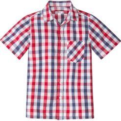 Koszula w kratę bonprix niebiesko-czerwony w kratę. Białe koszule męskie na spinki marki bonprix, z klasycznym kołnierzykiem, z długim rękawem. Za 37,99 zł.