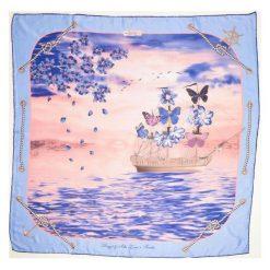 Chusty damskie: Versace 19.69 Chusta Damska Jasnoniebieski Feel Butterflies