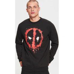 Bluza DEADPOOL - Czarny. Czerwone bluzy męskie marki KALENJI, m, z elastanu, z długim rękawem, długie. Za 99,99 zł.