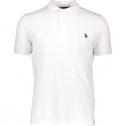 Koszulka polo w kolorze białym. Białe koszulki polo marki U.S. Polo Assn., m, z haftami, z bawełny. W wyprzedaży za 121,95 zł.