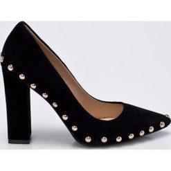 Missguided - Czółenka. Szare buty ślubne damskie marki Missguided, z materiału, na obcasie. W wyprzedaży za 129,90 zł.