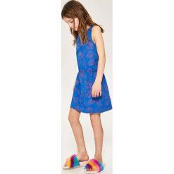 Sukienki dziewczęce z falbanami: Bawełniana sukienka bez rękawów – Niebieski