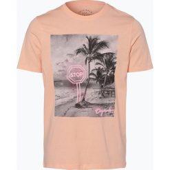 Jack & Jones - T-shirt męski – Jorpen, pomarańczowy. Brązowe t-shirty męskie z nadrukiem marki Jack & Jones, l. Za 39,95 zł.