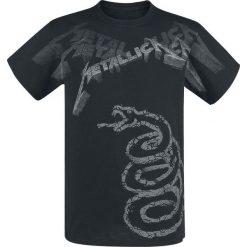 T-shirty męskie z nadrukiem: Metallica Black Album Faded T-Shirt czarny