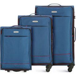 Zestaw walizek 56-3S-46S-90. Niebieskie walizki marki Wittchen, duże. Za 685,41 zł.