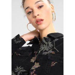 Bomberki damskie: Noisy May NMCHO PRINT  Kurtka jeansowa black