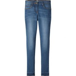 """Spodnie dziewczęce: Dżinsy SKINNY bonprix niebieski """"stone"""""""