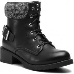 Trapery JENNY FAIRY - WS16357-18 Czarny. Czarne buty zimowe damskie marki Jenny Fairy, z materiału. Za 119,99 zł.