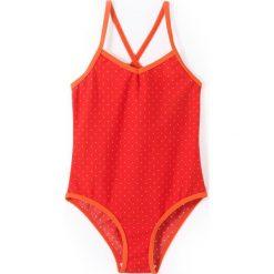 Stroje jednoczęściowe dziewczęce: Jednoczęściowy kostium kąpielowy w groszki 3-12 lata