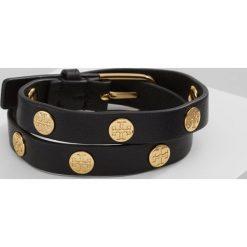 Biżuteria i zegarki: Tory Burch DOUBLE WRAP LOGO STUD BRACELET Bransoletka black goldcoloured