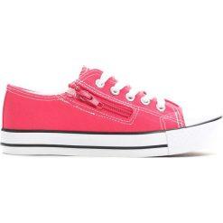 Różowe Trampki Made Off. Czerwone buty sportowe dziewczęce marki Born2be, na lato, z materiału, na zamek. Za 24,99 zł.