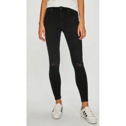 Vero Moda - Jeansy. Czarne jeansy damskie rurki marki Vero Moda, z bawełny. Za 169,90 zł.