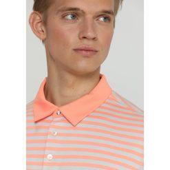 Adidas Golf PREMIUM BOLD STRIPE  Koszulka polo coral. Pomarańczowe koszulki polo adidas Golf, m, z bawełny, na golfa. Za 419,00 zł.
