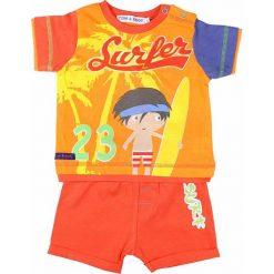 T-shirty chłopięce z nadrukiem: 2-częściowy zestaw w kolorze pomarańczowym