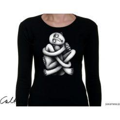 Zaplątanie - damska koszulka z długim rękawem. Czarne bluzki damskie Pakamera, z długim rękawem. Za 79,00 zł.