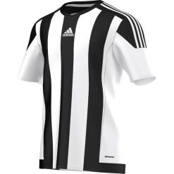 Adidas Koszulka piłkarska męska Striped 15 biało-czarna r. L (M62777). Białe koszulki sportowe męskie marki Adidas, l. Za 83,59 zł.
