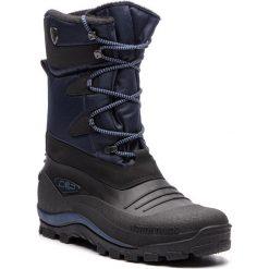 Śniegowce CMP - Nietos 3Q47867 B.Blue N950. Czarne botki męskie CMP, z materiału. Za 299,99 zł.