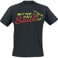 Better Call Saul Logo T-Shirt czarny. Czarne t-shirty męskie z nadrukiem marki Better Call Saul, m, z okrągłym kołnierzem. Za 74,90 zł.