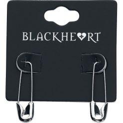 Blackheart Safety Pin Kolczyki srebrny. Szare kolczyki damskie Blackheart, srebrne. Za 42,90 zł.