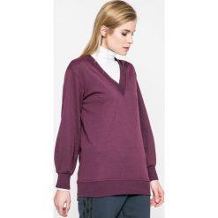 Jacqueline de Yong - Bluza. Szare bluzy rozpinane damskie Jacqueline de Yong, m, z bawełny, bez kaptura. W wyprzedaży za 49,90 zł.