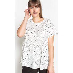 T-shirty damskie: Luźny T-shirt w kropki