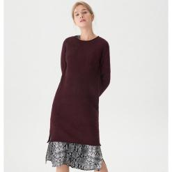 Długi sweter - Bordowy. Niebieskie swetry klasyczne damskie marki House, m. Za 119,99 zł.