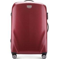 Walizka średnia 56-3P-572-35. Czerwone walizki Wittchen, z gumy, średnie. Za 369,00 zł.