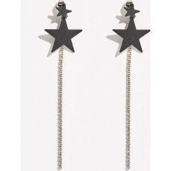 Biżuteria i zegarki damskie: Kolczyki z gwiazdkami - Jasny szar