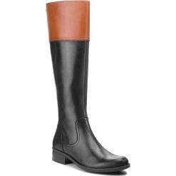Oficerki CAPRICE - 9-25525-21 Black Multi 011. Brązowe buty zimowe damskie Caprice, z materiału, na obcasie. Za 519,90 zł.