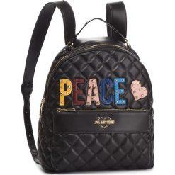 Plecak LOVE MOSCHINO - JC4227PP06KC0000 Nero. Czarne plecaki damskie marki Love Moschino, ze skóry ekologicznej, eleganckie. Za 929,00 zł.