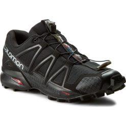 Buty SALOMON - Speedcross 4 383130 26 V0 Black/Black/Black Metallic. Czarne buty do biegania męskie marki Salomon, z gore-texu, na sznurówki, gore-tex. W wyprzedaży za 389,00 zł.