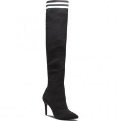 Muszkieterki SCHUTZ - S 01723 0285 001 U  Black/White. Czarne buty zimowe damskie Schutz, z materiału, na obcasie. Za 1089,00 zł.
