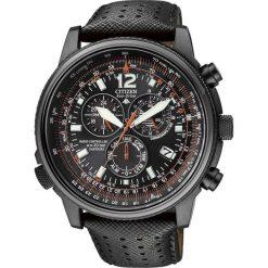ZEGAREK CITIZEN RADIO CONTROLLED AS4025-08E. Czarne zegarki męskie CITIZEN, ze stali. Za 2560,00 zł.
